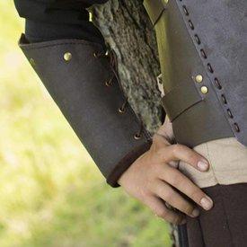 Epic Armoury RFB leren onderarmbeschermers, bruin, paar