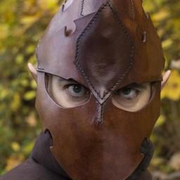 Assassin Helmet, Brown Leather, LARP