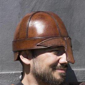 Epic Armoury Läder nässkyddhjälm, brun