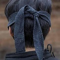 Epic Armoury Leather Mempo half mask, black