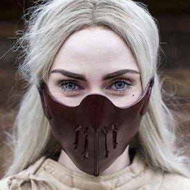 Epic Armoury Läder Mempo halvmask, röd