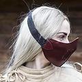 Epic Armoury Semimaschera in pelle Mempo, rossa
