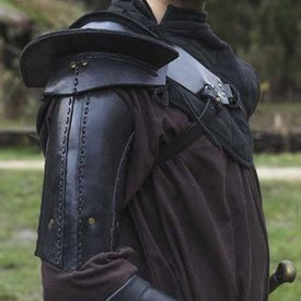 Epic Armoury Læder skulder rustning, sort