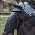 Epic Armoury Armadura de cuero para el hombro, negro