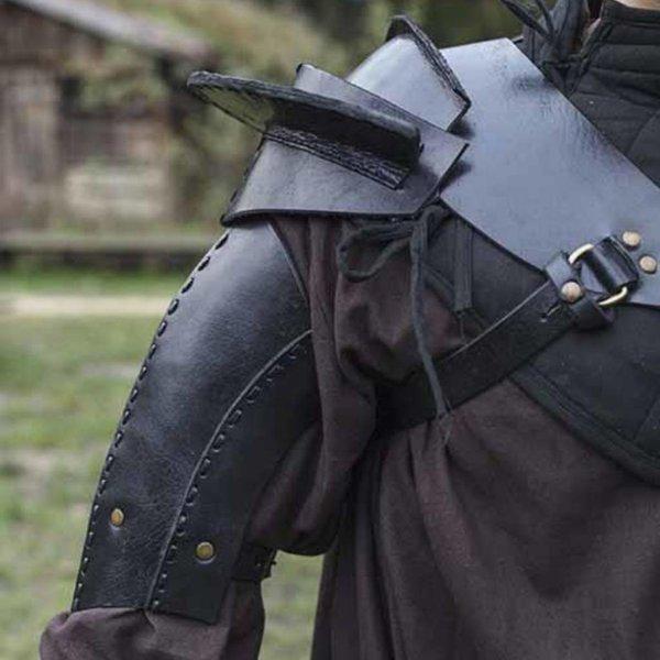 Epic Armoury Armure d'épaule en cuir, noir