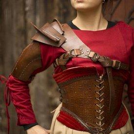 Epic Armoury Läder skuldra rustning, brun