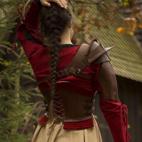 Epic Armoury Armadura de ombro de couro, marrom