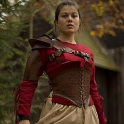Leather shoulder armor, brown