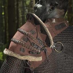 Läder Orc Pauldron Uzgush, brun