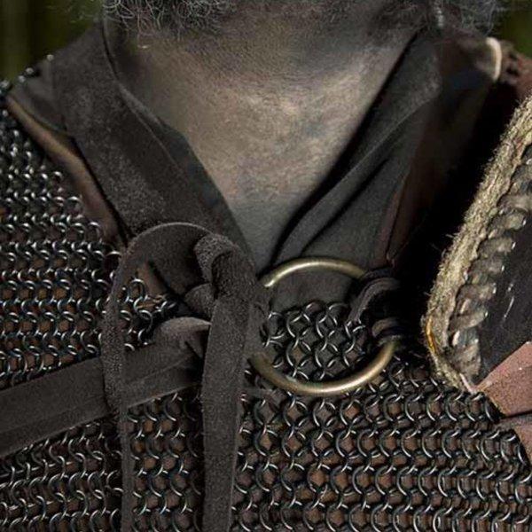 Epic Armoury Leather Orc pauldron Uzgush, brown