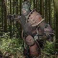 Epic Armoury Orco de cuero pauldron Uzgush, marrón