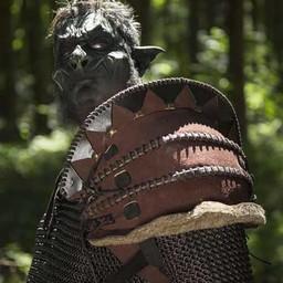 Skóra Orc Pauldron Uzgush, brązowy