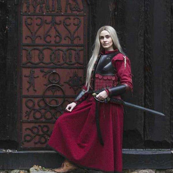 Epic Armoury Læder armskinner Warrior, sort-rød, par