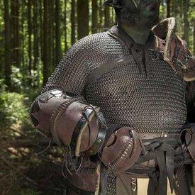 Epic Armoury Læder Orc armskinner Uzgush, brun, par