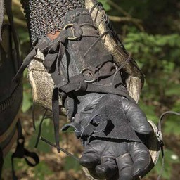 Läder Orc rustningsarmar Uzgush, svart, par