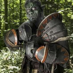 Skóra Orc zarękawie Uzgush, czarny, para