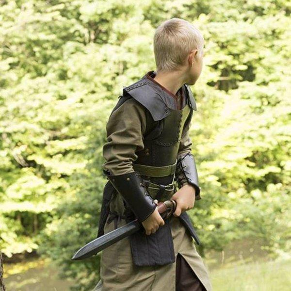 Epic Armoury RFB læder brystet rustning S, sort