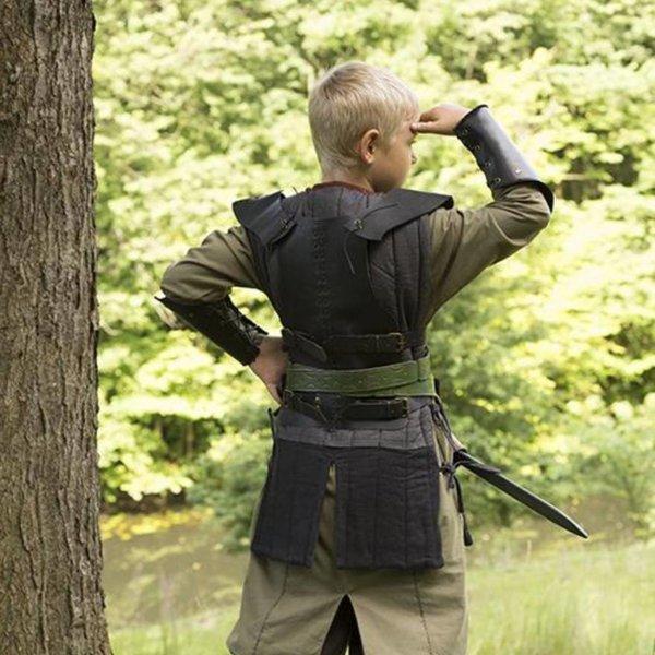 Epic Armoury RFB leren borstpantser S, zwart