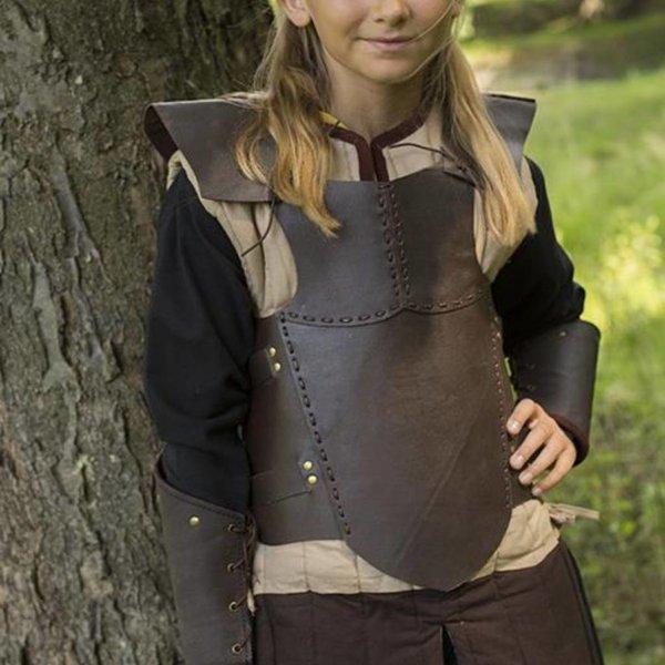 Epic Armoury RFB læder brystet rustning S, brun