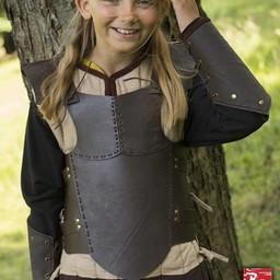 RFB läder bröstet rustning S, brun