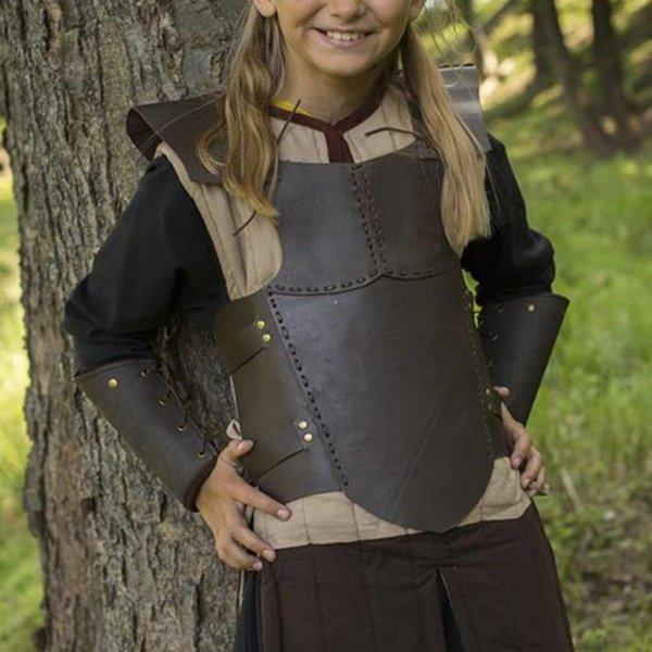 Epic Armoury Armure de poitrine en cuir RFB S, marron