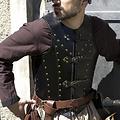 Epic Armoury Brigandine LARP, negro