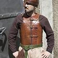 Epic Armoury Brigandine LARP, marrón