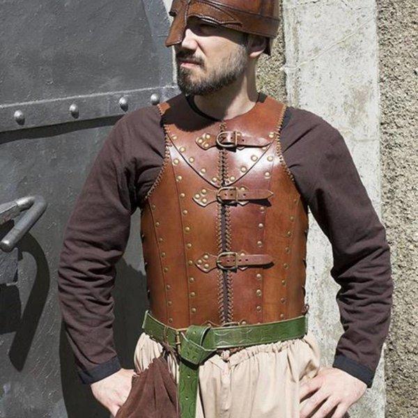 Epic Armoury LARP Brigandine, brun