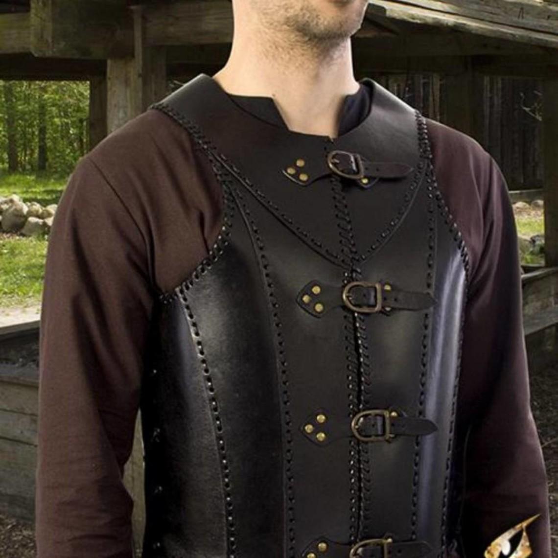 Epic Armoury LARP læder soldat rustning, sort