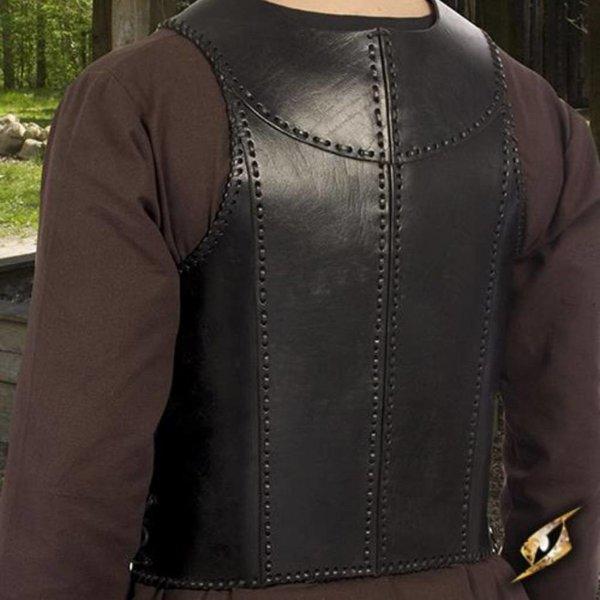 Epic Armoury Armure de soldat en cuir LARP, noir