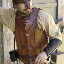 Epic Armoury LARP skórzany pancerz żołnierza, brązowy