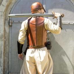LARP läder soldat pansar, brun