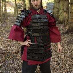 Armadura de samurai de cuero, negro