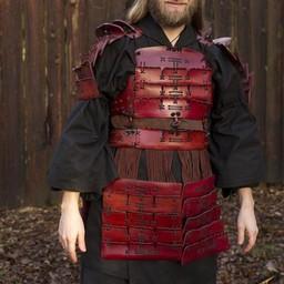 Armadura Samurai de cuero, rojo.