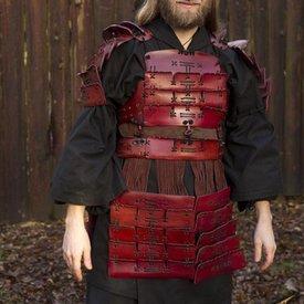 Epic Armoury Leder Samurai Rüstung, rot