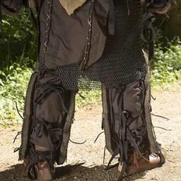 Läder Orc fettgrevar Uzgush, brun, par