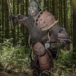 Leder Orc Grieben Uzgush, braun, Paar