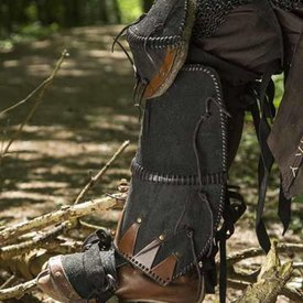 Epic Armoury Grebas Orc de cuero Uzgush, negro, par