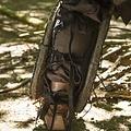 Epic Armoury Leren Ork beenbeschermers Uzgush, zwart, paar