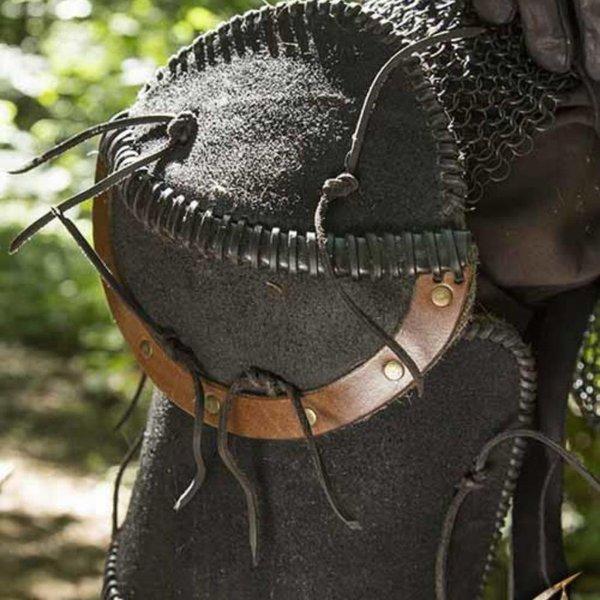 Epic Armoury Læder Orc fedtegrever Uzgush, sort, par