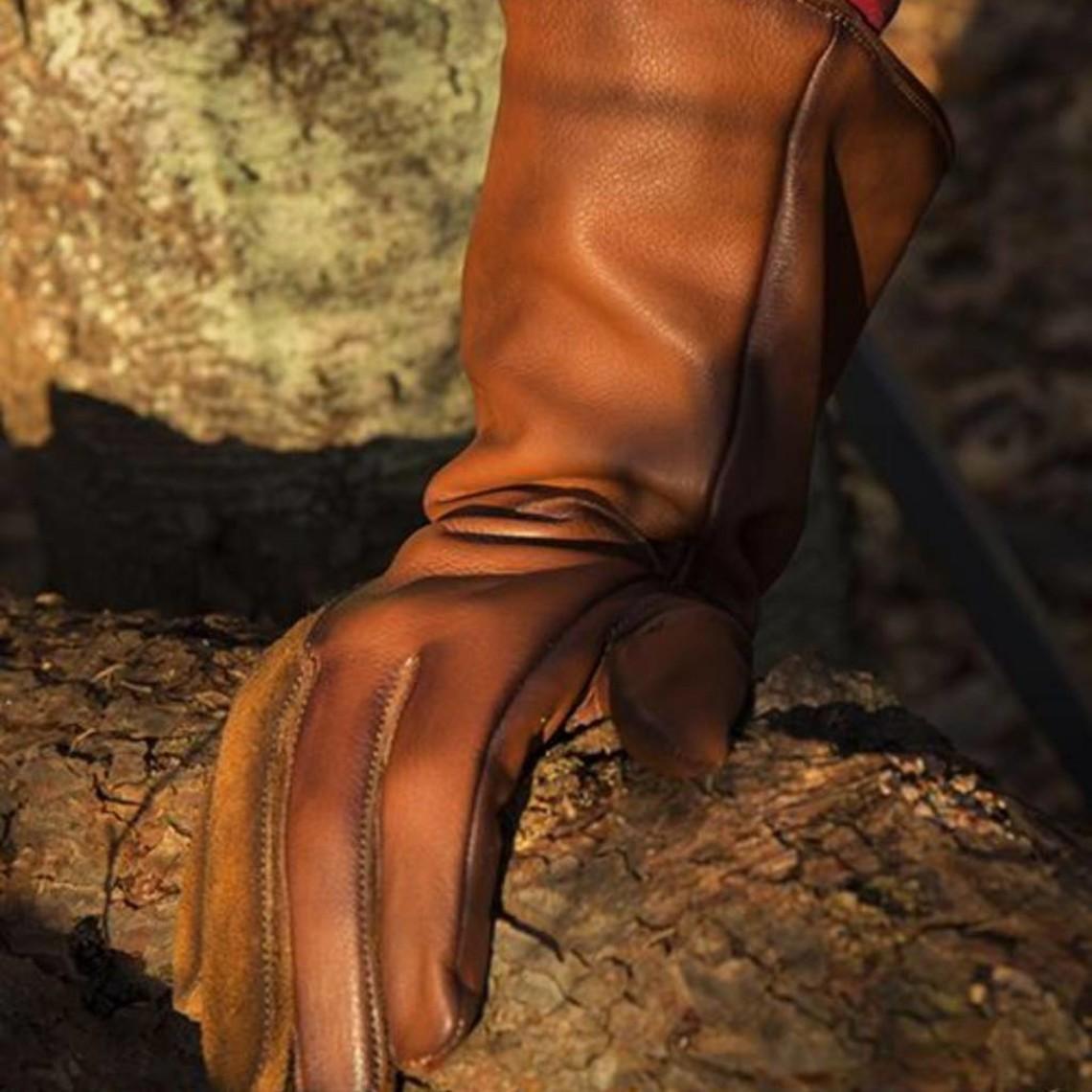 Epic Armoury Gants médiévaux en cuir, marron