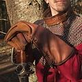 Epic Armoury Læder middelalderlige handsker, brun
