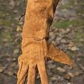 Epic Armoury Guantes de piel de gamuza, marrón.