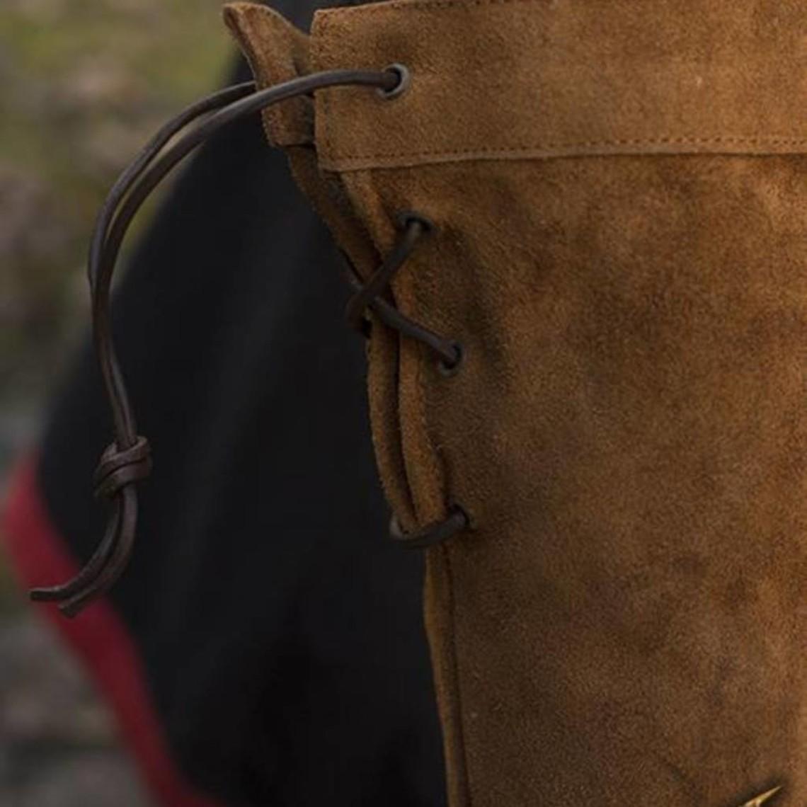 Epic Armoury Gants de combat en cuir daim, marron
