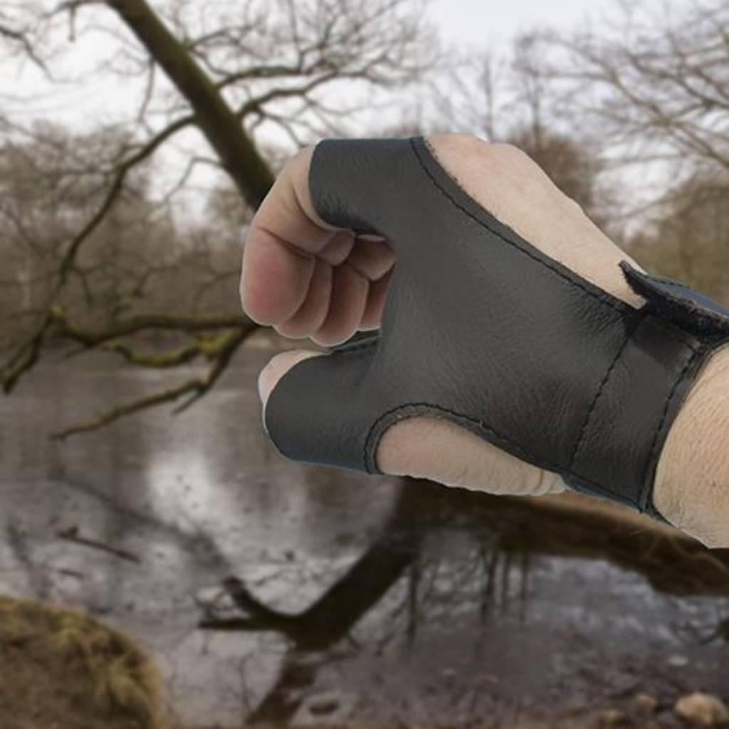 Bow glove left handed archer, brown