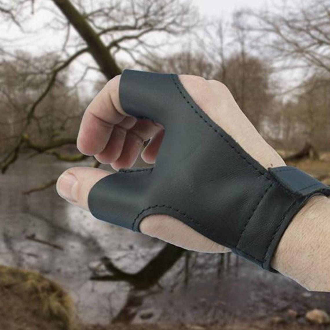 Epic Armoury Bow handske VÄNSTER handen bågskytt, svart