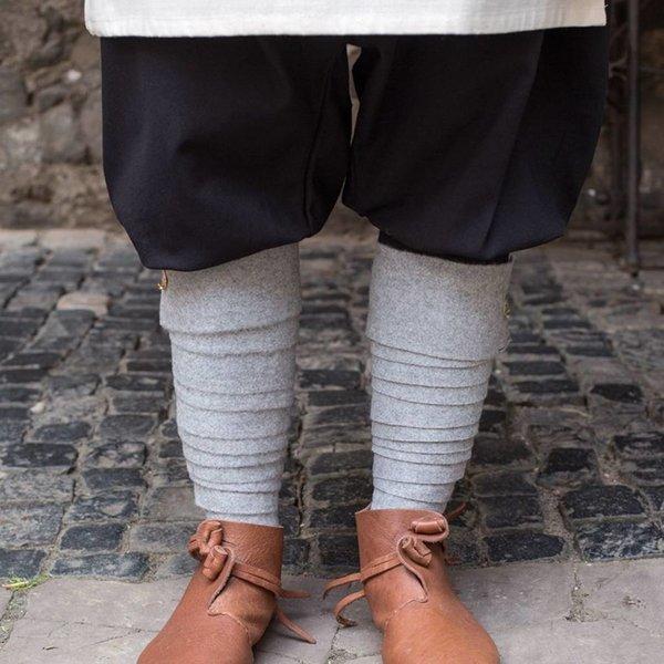 Burgschneider Leg wrappings Aki, grey