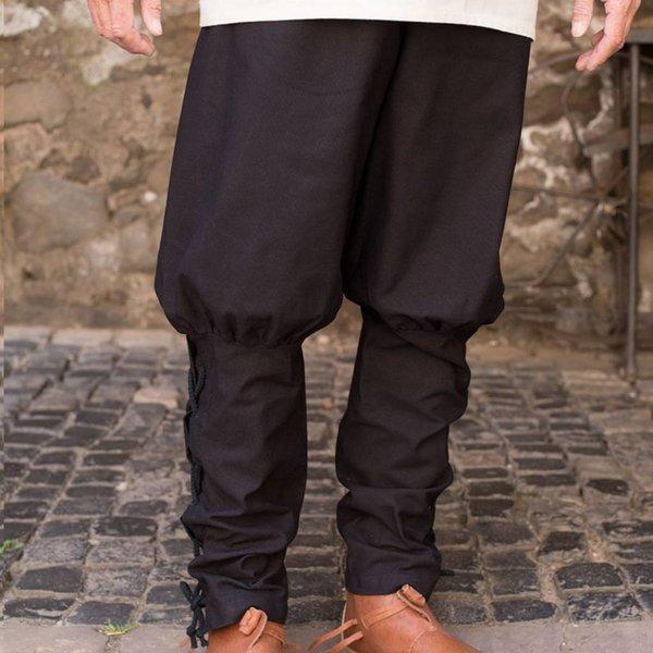 Burgschneider pantaloni Wigbold, nero