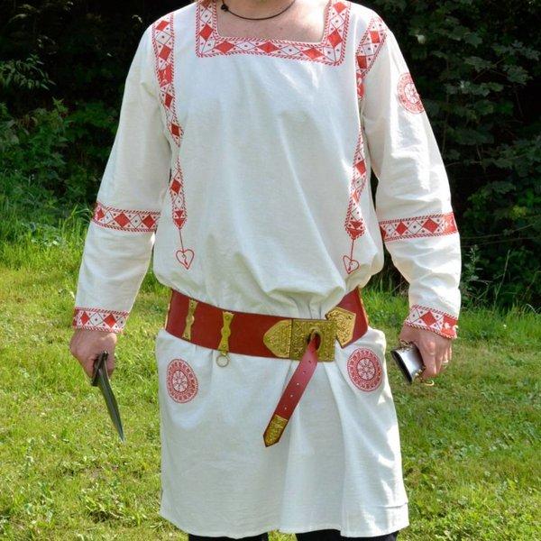Tunica manicata (tunique romaine), rouge