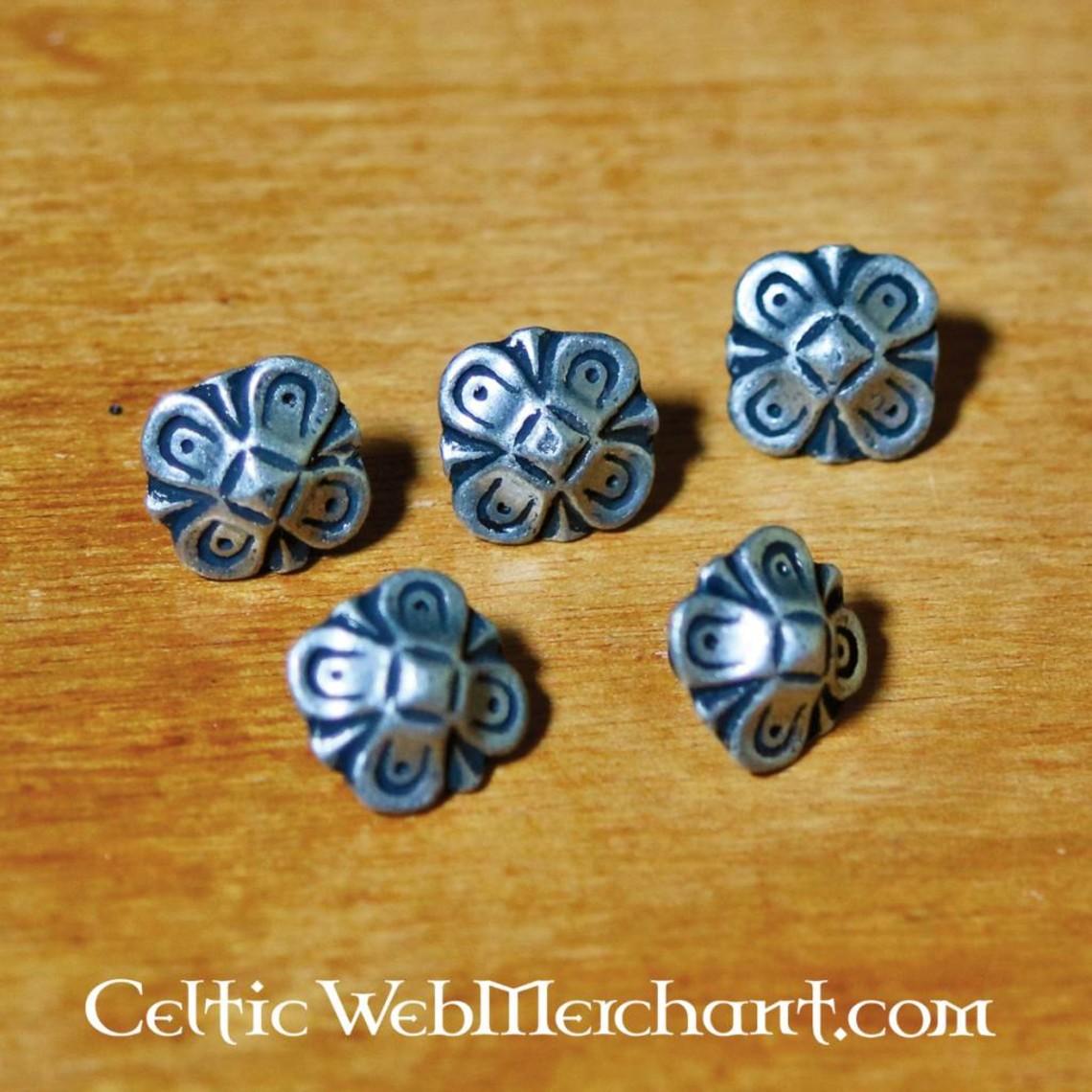 Accessori per cintura Oktogon (5 pezzi), argentati